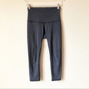 Lululemon Wunder Under Crop Heathered Cadet Blue
